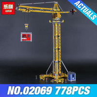 Lepin 02069 Genuine 778Pcs City Series The Building Crane Set 7905 Building Blocks Bricks Funny Toys