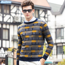 O-Neck Pullovers Men Brand Clothing 2018 Autumn Winter Casual Wool Sweater Print Pull Homme High Quality New Arrivals