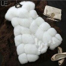 00 New Arrival Winter Warm Coat Women Fur Vest  Fashion Women Import Coat Fur Vest High-Grade Faux Fur Coat Fox Fur Long Vest