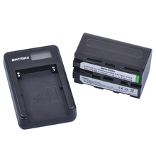 1Pc 5200mAh NP-F770 NP-F750 NP F770 NP F750 NP F770 750 Batteries + LCD USB Charger for Sony NP-F550 NP-F770 NP-F750 F960 F970