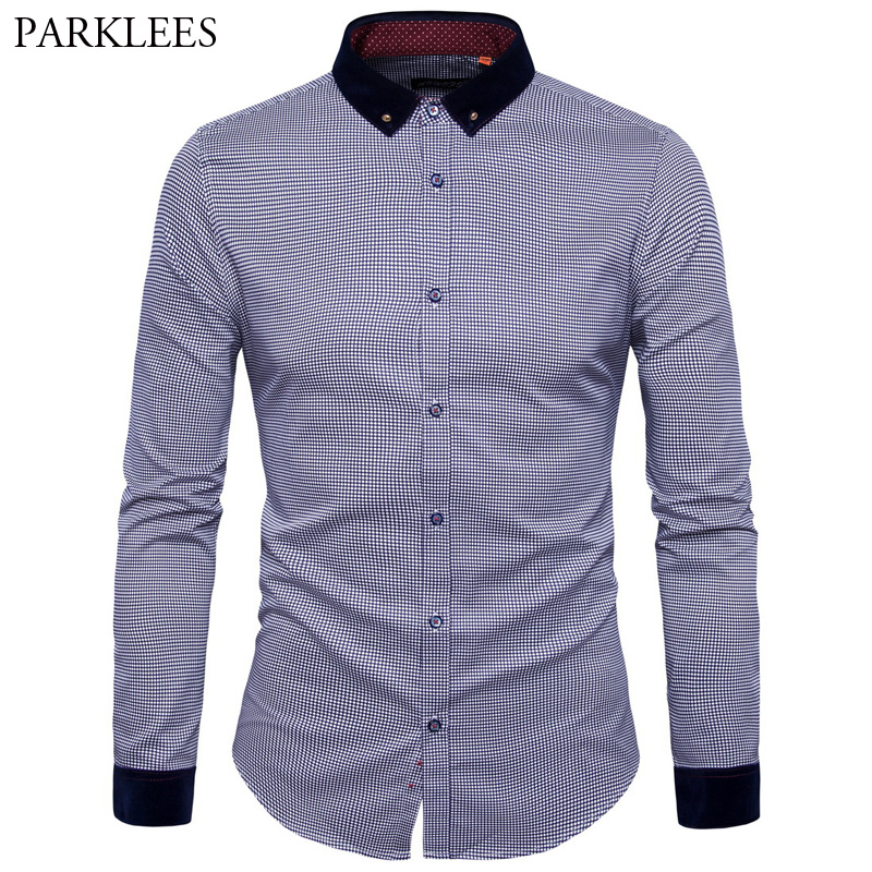 Online Get Cheap Mens Button Down Shirt Dotted -Aliexpress.com ...