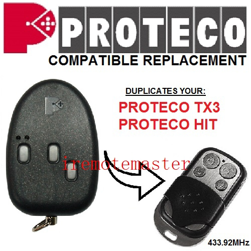 PROTECO TX3,HIT compatible replacement remote control 433MHZ free shipping
