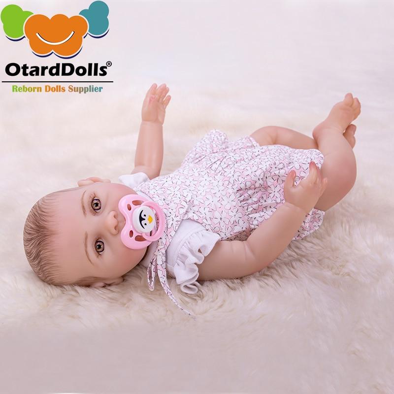 OtardDolls 43cm Bebe Reborn Doll Soft Silicone Boy Girl Toy Reborn Baby Cute Doll Gift for