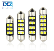 DXZ 2pc FESTOON 31mm 36mm 39mm 42mm Car LED Bulb C5W CANBUS NO ERROR Dome Light Auto Interior Lamp DC12V white Reading light