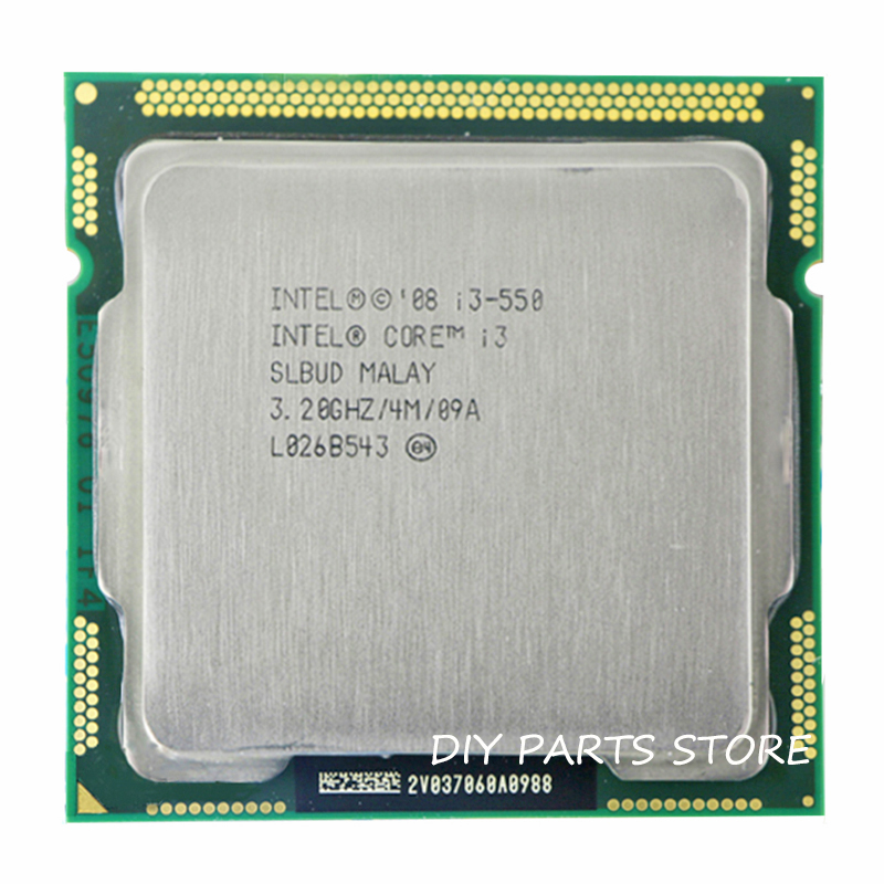 Intel Core i3 550 i3 550 3.2 GHz/6 MB Socket LGA 1156 CPU Processeur HD mémoire Prise En Charge: DDR3-1066, DDR3-1333