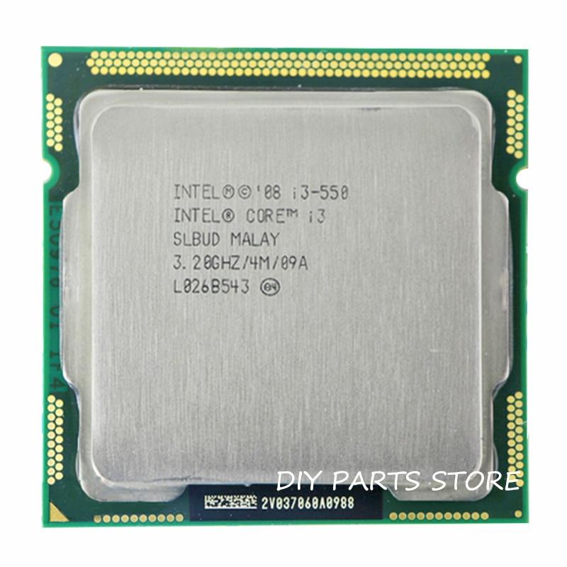 Intel Core I3 550 I3 550  3.2GHz/ 6MB Socket LGA 1156 CPU Processor  HD Supported Memory: DDR3-1066, DDR3-1333