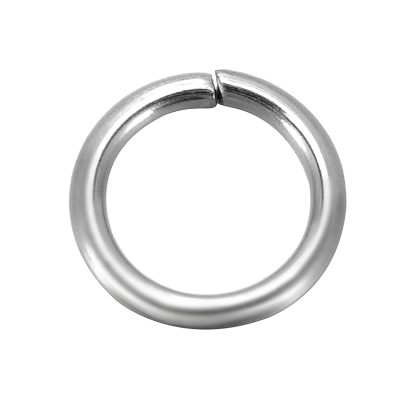 DoreenBeads 500 Stainless Steel Open Jump Rings 8mm Dia. Findings (B10272), yiwu цена