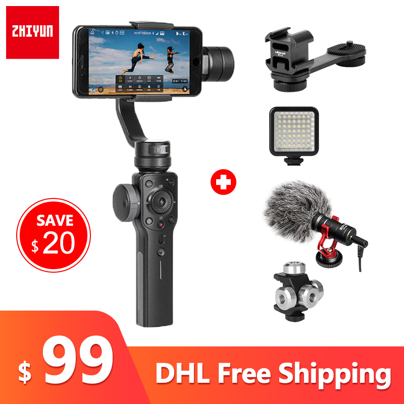 ZHIYUN Smooth 4 3 Axis Smartphone Handheld gimbal stabilizer steadicam for iphone 6 X Action camera