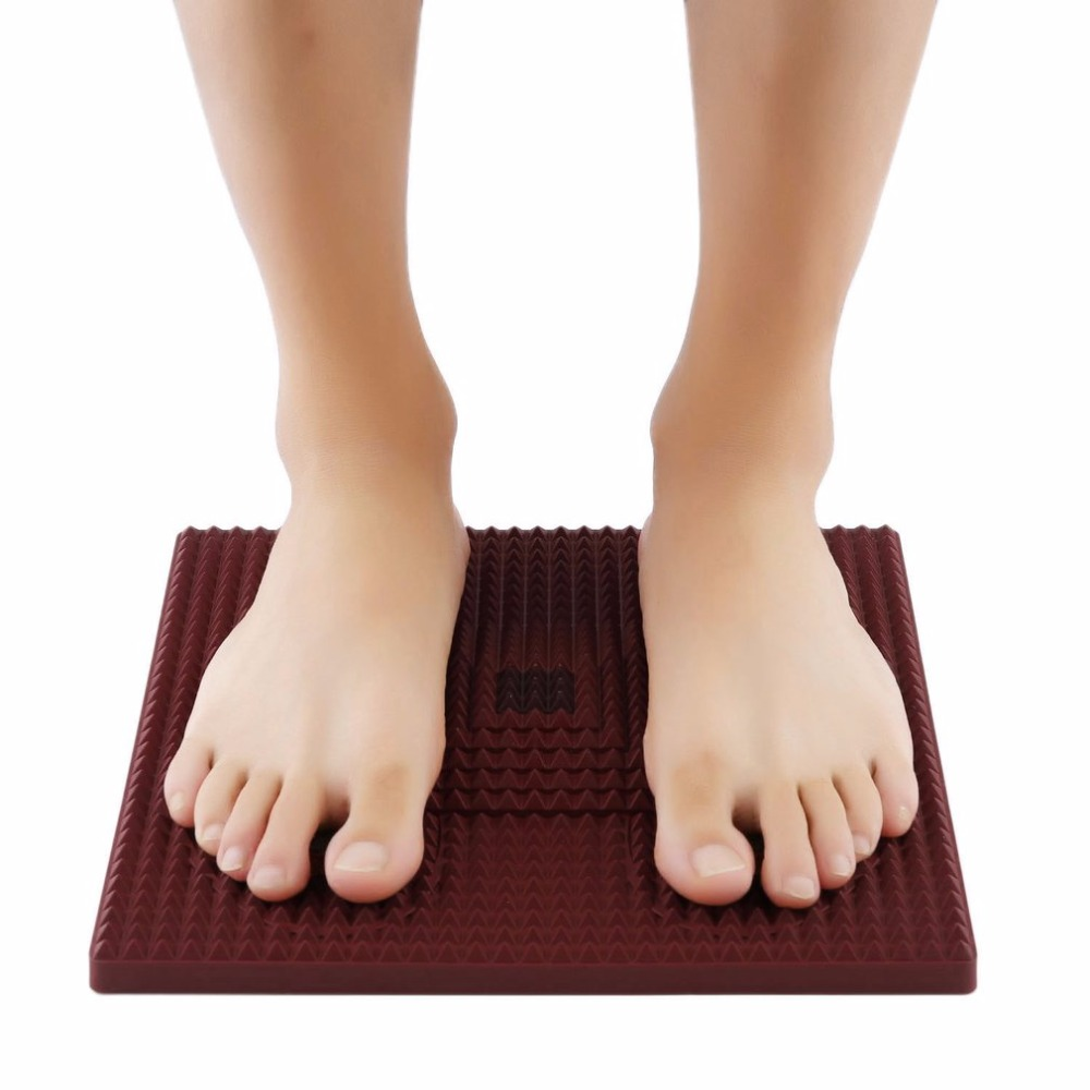 2017 Foot Pyramid Shape Energy Mat Acupressure Magnet Feet Massage Therapy Insole Men Women Full Plantar Foot Health Care Pad electric antistress therapy rollers shiatsu kneading foot legs arms massager vibrator foot massage machine foot care device hot