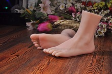 New Top Quality Foot Fetish Toys Solid Silicone Feet Sex Toy,Adult Toys for Man Lifelike Skin Ballet Lady Fake Feet