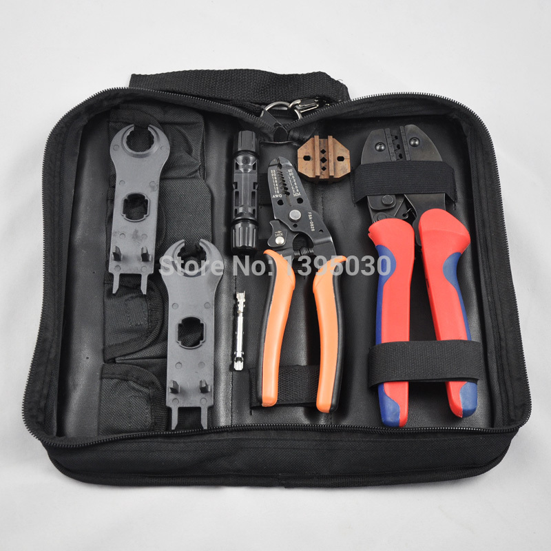 1set ROPC-1Solar Crimping Tools for 2.5-6mm2 MC3/MC4/Tyco solar connectors,MC4+MC3 kits, MC4 crimping tool