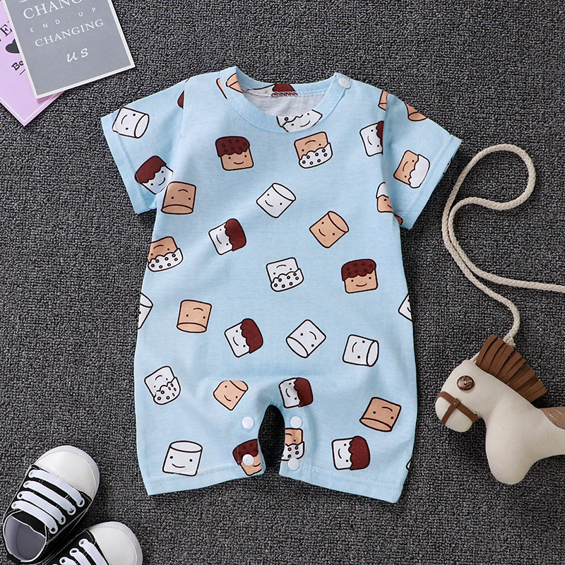 Popular New Born Baby Boy Summer Casual Clothing Sets Baby Girl Lovely Style Pure Cotton Bodysuit
