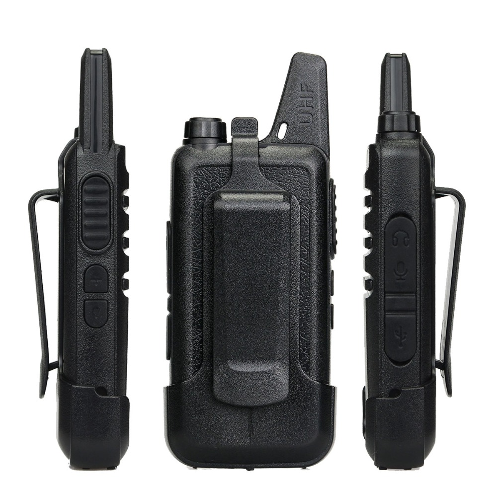 4 st Retevis RT22 Mini Walkie Talkie Radio 2W UHF VOX USB Laddning - Walkie talkie - Foto 4