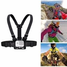 For Xiao Mi Yi Gopro Hero 5/4/3/3+ Accessories Chest Belt Action Camera Holder Sport Cam SJ4000 Strap Mount Adjustable Strap цена