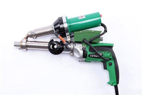 Nuevo PVC de aire caliente plástica del soldador pistola vinilo extrusora tubo soldador de extrusión máquina mano extrusoras con japonés Hitachi motor