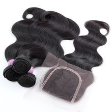 3 Bundles Brazilian Virgin Hair With Closure, Aliexpress YVONNE Brazilian Body Wave With Closure,100% Human Hair