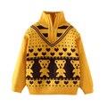 Los niños de la Osa menor de Primavera Otoño Muchachos suéter niños Suéter Cuello de Tortuga Adorable de los suéteres niños