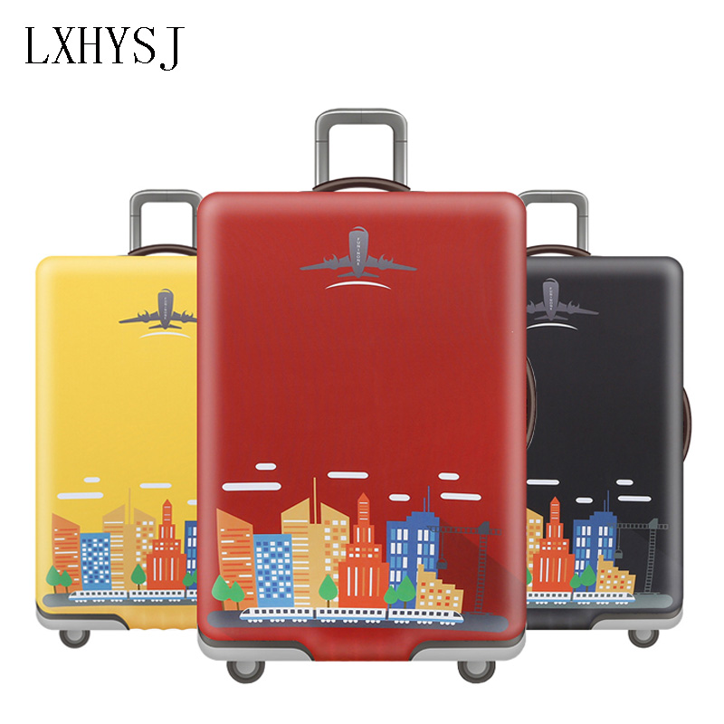 LXHYSJ Travel Luggage Cover Elastic Luggage Protective Covers For 18-32 Inches Suitcase Case Baggage Cover Travel Accessories