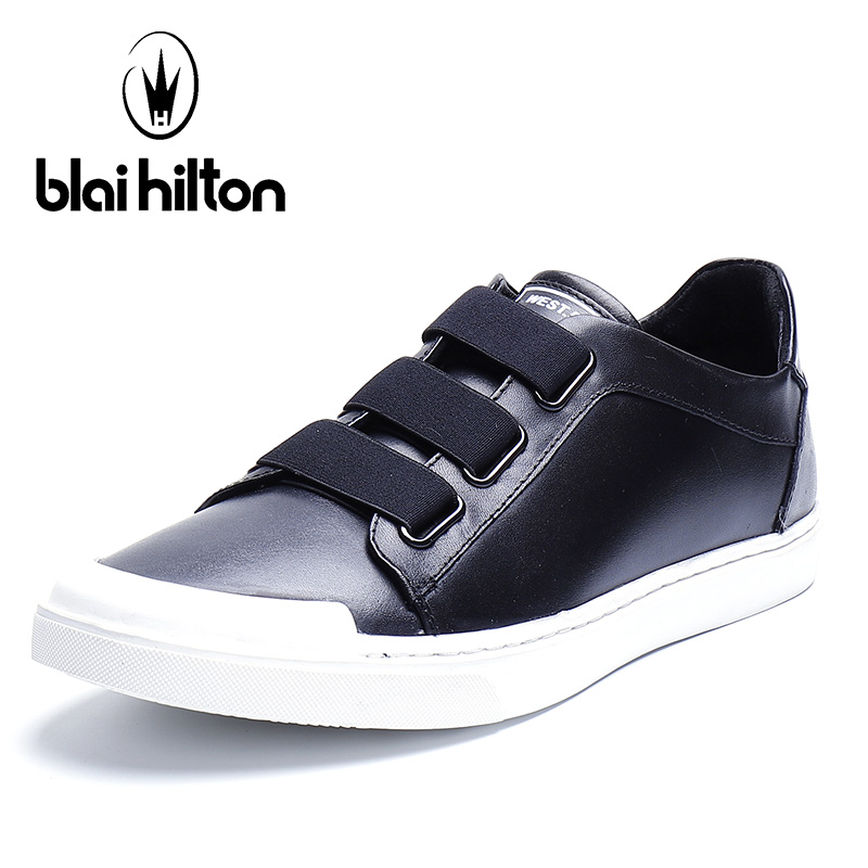 Blai Hilton 2018 New Fashion 100% Luxury Genuine Leather Spring/Autumn Men Shoes Breathable/Comfortable Men's Casual Shoes aiyuqi 2018 new spring genuine leather female comfortable shoes bow commuter casual low heeled mother shoes woeme
