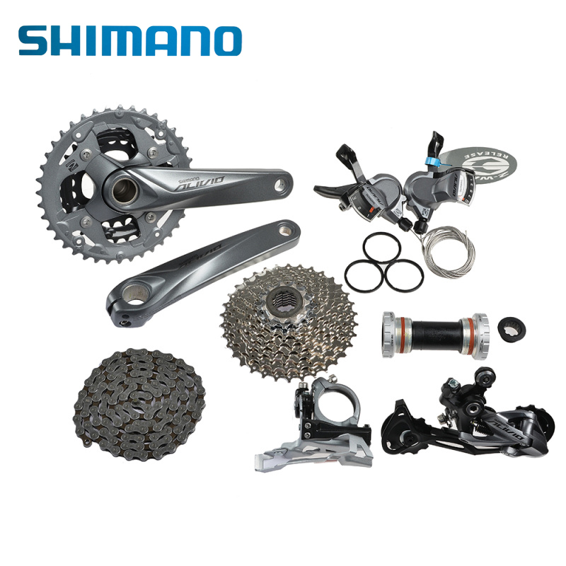 Bicycle Derailleur Shimano Alivio M4000 M4050 T4060 3x9s 27s Speed Mtb Bicycle Groupset With Hydraulic Disc Brake Integrated