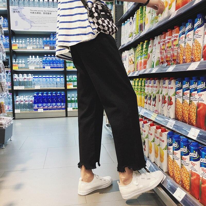 Coréenne Lâche bas Fond De Pantalon Mode Cheville Hommes Solide Cloche Casual longueur 2018 black D'été Irrégulière 2xl M Marée Couleur Apricot daq0dw4x