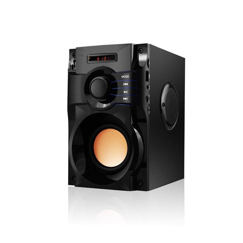 10 watt Power Bluetooth Lautsprecher Bass Stereo Subwoofer Drahtlose Lautsprecher Tragbare LCD Display Lautsprecher Tf Karte für Handy Fm