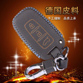 Leather Keychain Pouch For Kia Sportage K2 K5 Sorento Sportage R Soul Cadenza Leather Key Case 3 Button Leather Car Key Holder