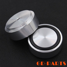 4pcs 39*17mm Silver Anodized CNC Machined Full Aluminum Isolation Feet Mat Pad For PC Chassis Speaker Cabinet DAC CD Turntable