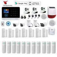 Yobang Security Wifi GSM Alarm Wireless IOS Android APP Control Home Burglar Security Protection Alarm System