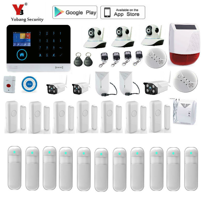 Yobang Security wifi GSM Alarm Wireless IOS/Android APP Control Home Burglar Security Protection Alarm System wolf guard wifi wireless 433mhz android ios app remote control rfid security wifi burglar alarm system with sos button