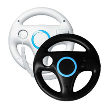ONETOMAX 2pcs White + Black Kart Racing Steering Wheel for Nintendo Wii Game Remote Control for Wii console Game Accessories