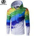 New Spring 3D Printed Hoodies Hip Hop Zipper Men Hoodies Hoody Coat Men Sweatshirt  Sudaderas Hombre Brand Clothing MWY103