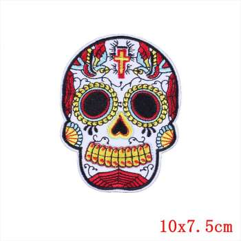 Punk Rock Skull Embroidery Patches 1