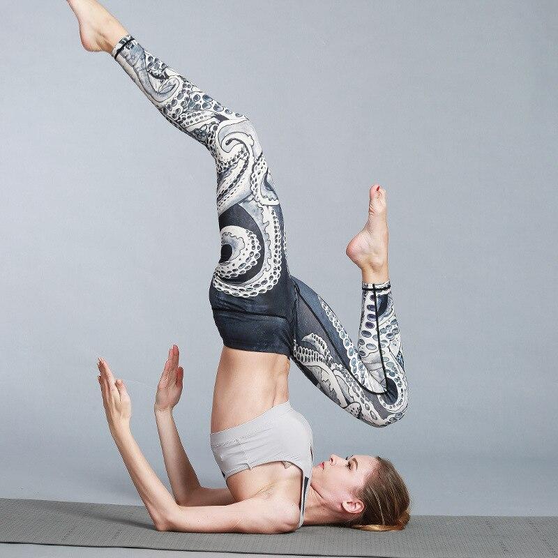 2018 New Arrival Women Sports Yoga Pants Leggings Floral Printed Women Yoga Compression Pants Workout Leggings Sportswear