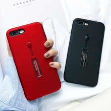 For iphone 7 8 Frosted Soft silicon Rig Phone Case For iphone 7 Plus Case Hide Stand Holder Cover For iphone 8 Plus coque capa коврик многоразовый для рисования водой лягушонок 29x21см пластик