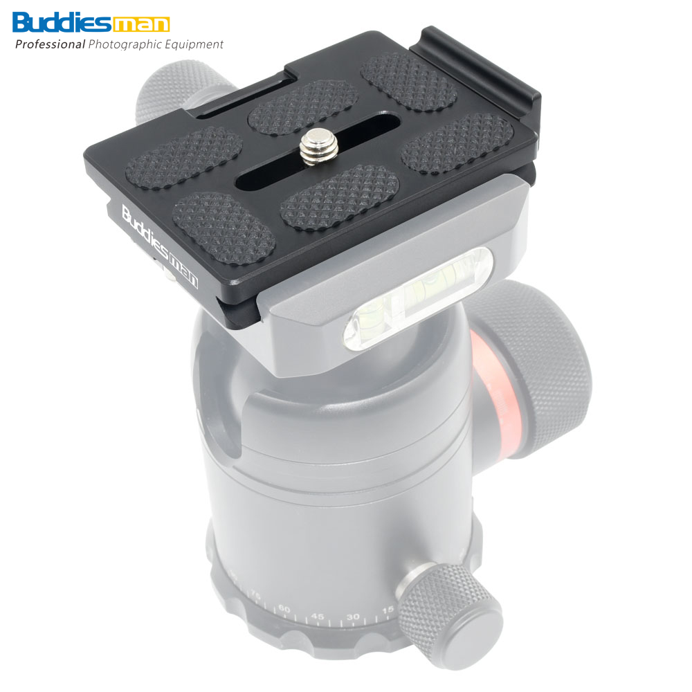 Buddiesman 60mm Universal Arca Swiss Quick Release Plate for Tripod Ball Head with Screw&Rear Stopper(DP-T60)