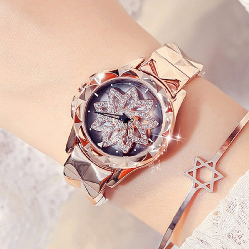 Rose Gold Women Watch Stee lTop Brand Luxury Ladies Watch Creative Girl Quartz Wristwatch Clock Montre Relogio Feminino small brand fashion women watches casual luxury ladies watch creative girl quartz wristwatch clock montre relogio feminino