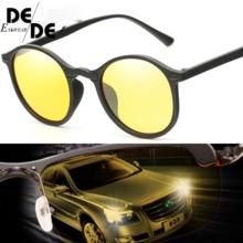 DesolDelos Hot Sale Men Mirror Polarized Sunglasses Women Round Black Frame Sport Glasses Unisex Driving Eyewear