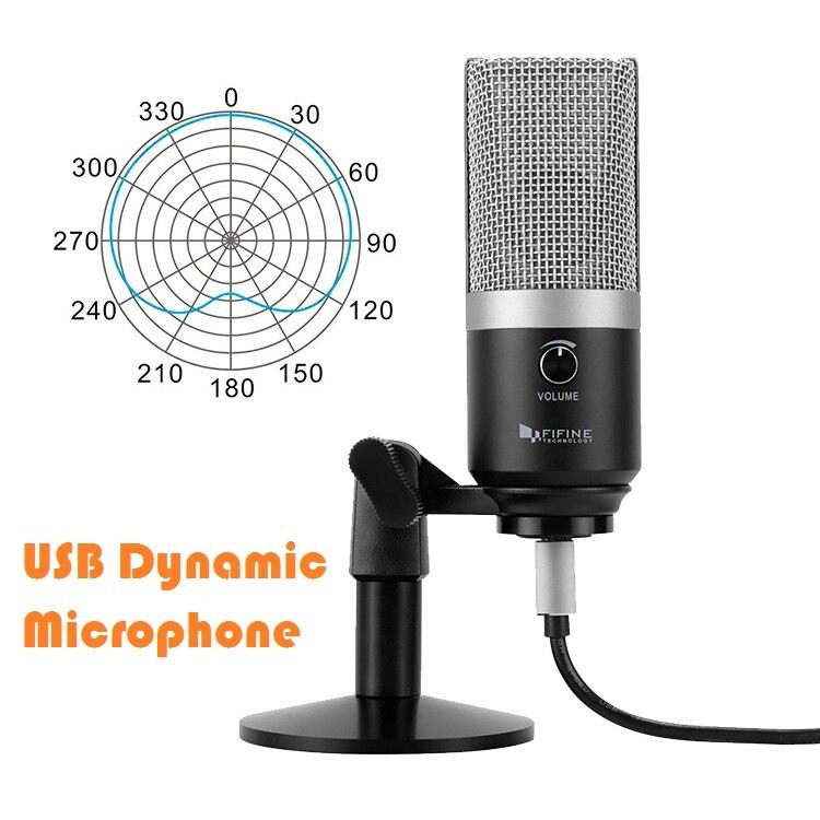 FIFINE USB MICROFONE condensador profissional de gravação de microfone para computador com windows e Mac para Youtube Skype reunião jogo K670