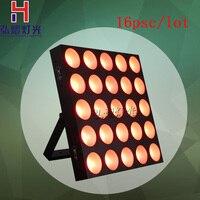16pcs/lot led stage light dmx control 25x10w led dot matrix 5x5 led matrix
