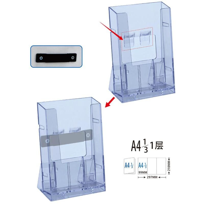 Clear Acrylic Business Card Holder Brochure Desk Stand Pamphlet Men Bank Credit Card Transparent Holder Office Display Card Holder & Note Holder Desk Accessories & Organizer