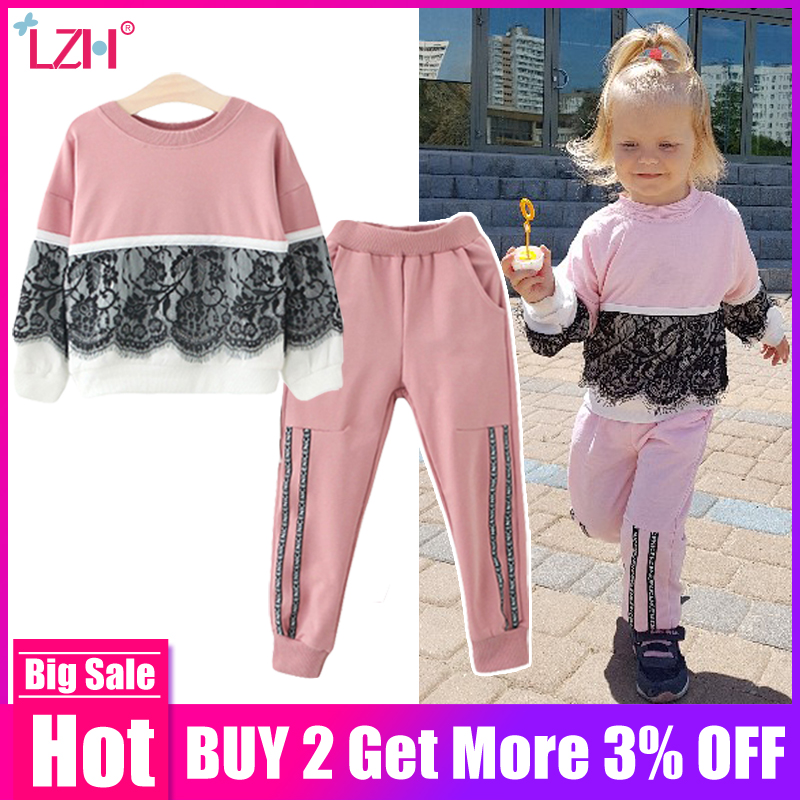 af0eabbb24e81 Children Clothing 2019 Spring Autumn Toddler Girls Clothes 2pcs Outfit Kids  Clothes Girls Tracksuit Suit For Girls Clothing Sets