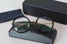 LIRIKOS Pure Titanium Anti-Corrosion Granny Chic Rounded Glasses Reading Clear Eye Lens male Eyewear Accessories