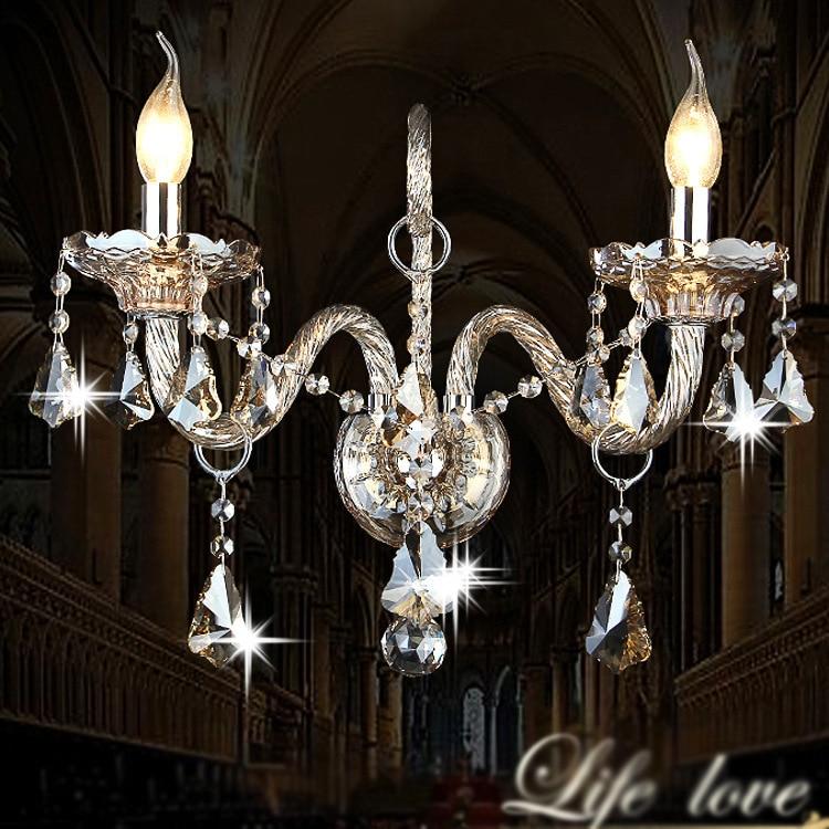 ᗛMur de cristal Lampe Chambre Arandela De Pared Allée Arandela