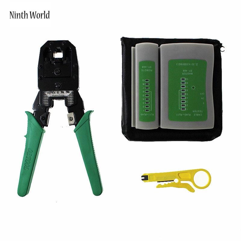 Hohe Qualität Rj45 Rj11 Rj12 Crimp Crimp Schneid Stripper Netzwerkhandwerkzeug Zangen & Cable Tester Rj45 Stecker AusgewäHltes Material Werkzeuge