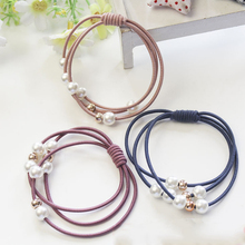 1PC/5PCS Hot Women Fashion Hair Accessories Elastic Bands Pearl Rubber Band Simple Jewelry
