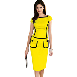 New arrival vestidos de festa eelegant knee length pocket casual brief bodycon pencil font b dress.jpg 250x250