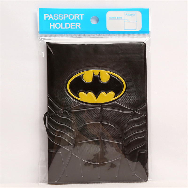 14*9.6CM Cartoon Batman Passport Holder ID Card Holder 3D Embossed ...
