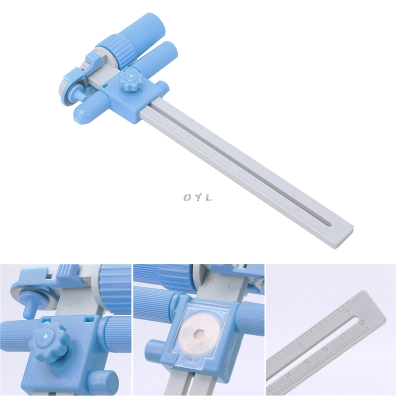 Rotary Compass Cutter Cutting Cut Circles 30mm To 336mm With Blades Tool