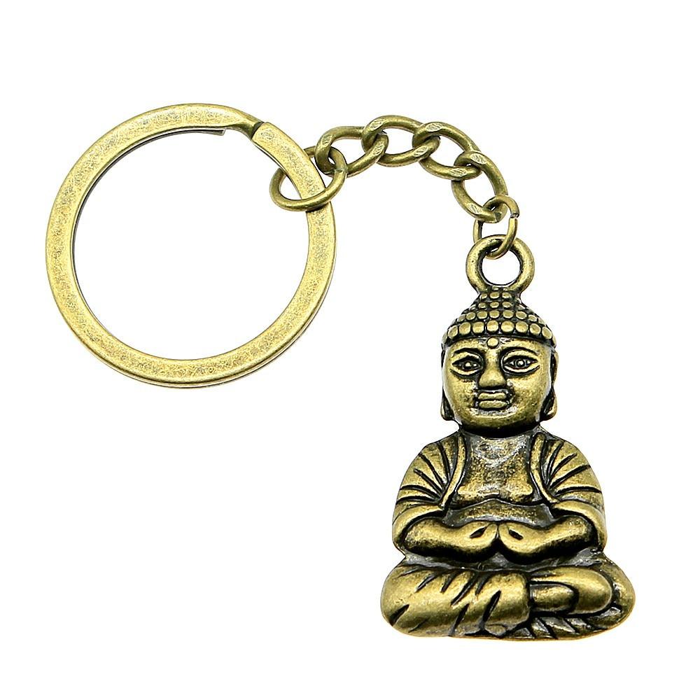 1 Stück Schlüsselanhänger Für Frauen Buddha Hochzeit Gefälligkeiten Und Geschenke Für Frauen 39x23mm Anhänger Antike Bronze